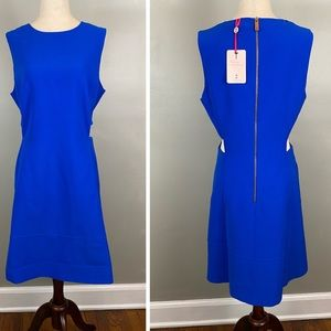 NWT Ted Baker Blue Panashe Cut Out Detail Dress